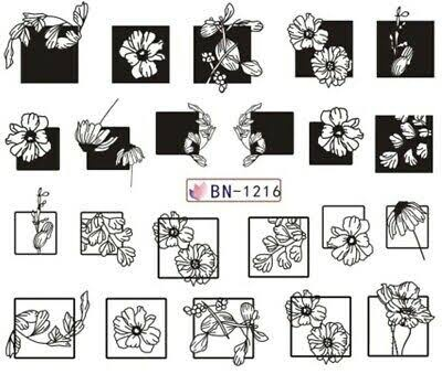 Water transfer nail sticker bn-1216 picture