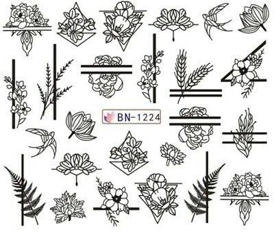 Water transfer nail sticker bn-1224 picture
