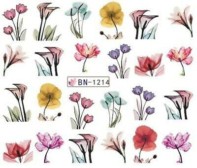 Water transfer nail sticker bn-1214 picture