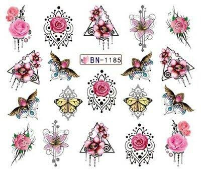 Water transfer nail sticker bn-1185 picture