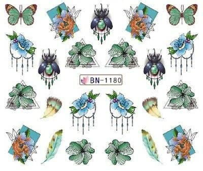 Water transfer nail sticker bn-1180 picture