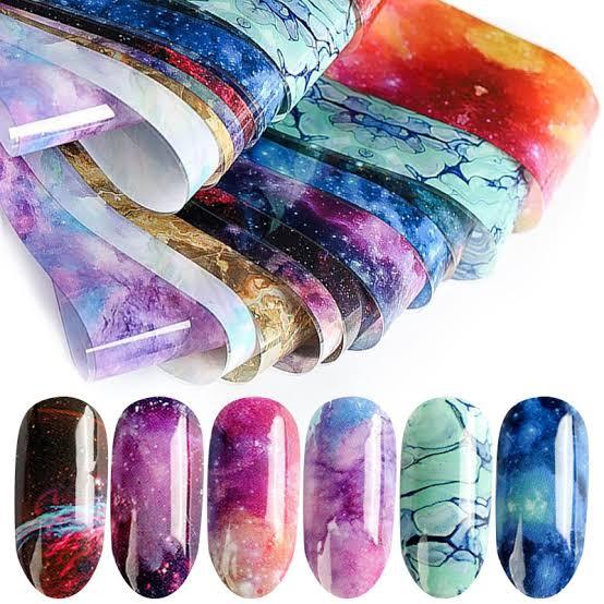 10 pcs nail art foils 33 picture
