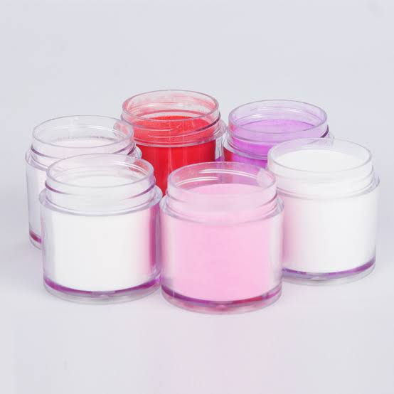 12 pcs - 10g mix color acrylic powder picture