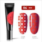 8 ml glow in dark stamping gel red 06 picture
