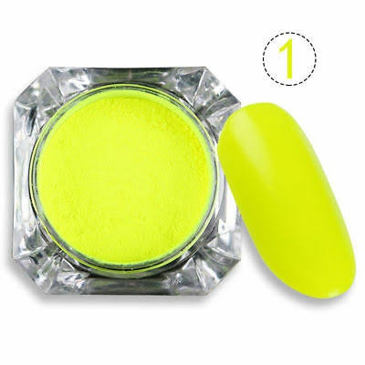 2g born pretty  neon phosphor powder yellow picture