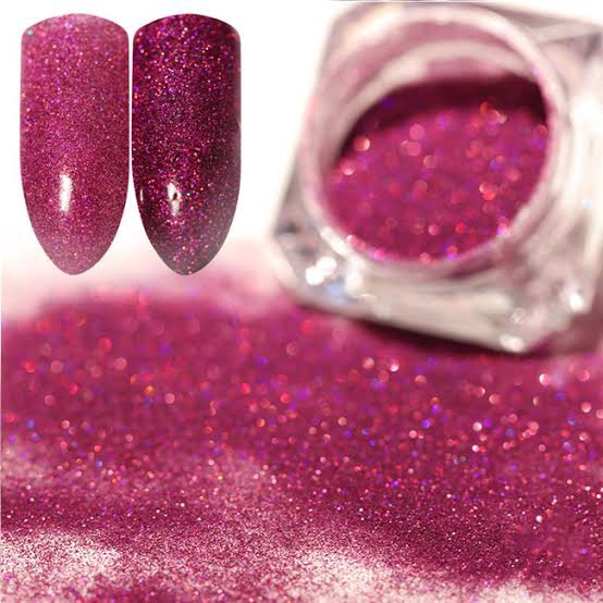 Born pretty hologram powder pink picture