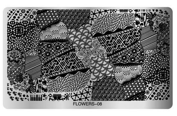 Big flower image plate - flower 08 picture