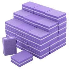 Nail mini block buffer -25 pcs  - purple picture