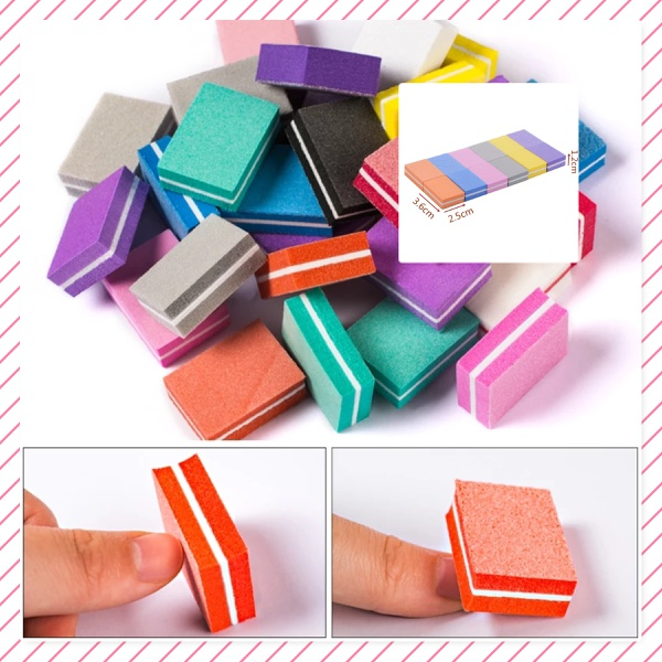 Mini nail buffer assorted colors picture