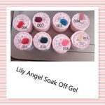 Lily angel soak off gel - 001 - red glitter picture