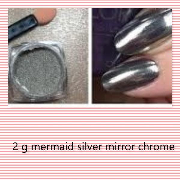 2 g mermaid chrome powder- silver picture