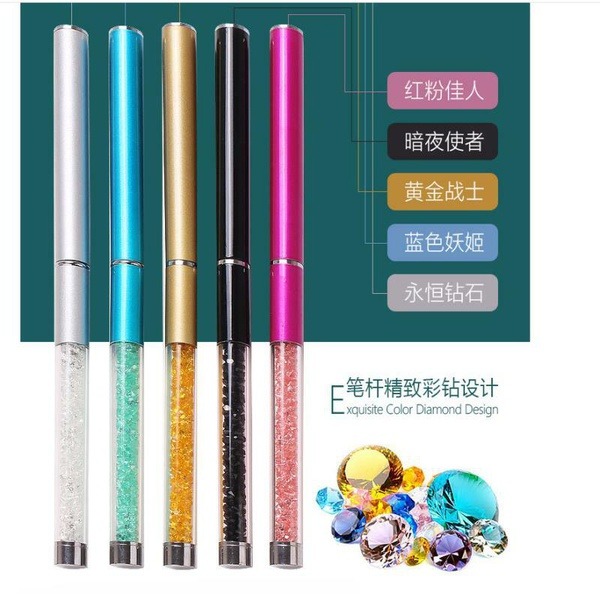 5pcs different diamond manicure brush set picture