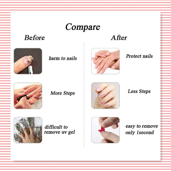 Nail guard glue picture
