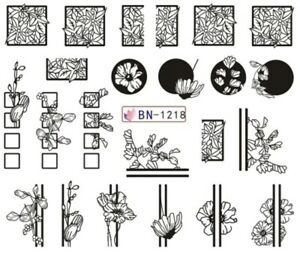 Water transfer nail sticker bn-1218 picture