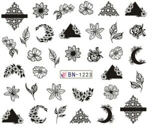 Water transfer nail sticker bn-1223 picture