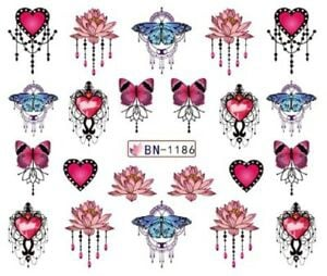 Water transfer nail sticker bn-1186 picture