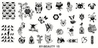 Stamping plate xy-beauty n0 15 picture
