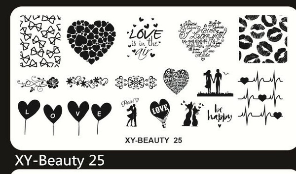 Stamping plate xy-beauty n0 25 picture