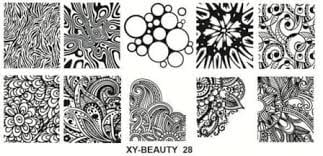 Stamping plate xy-beauty n0 28 picture