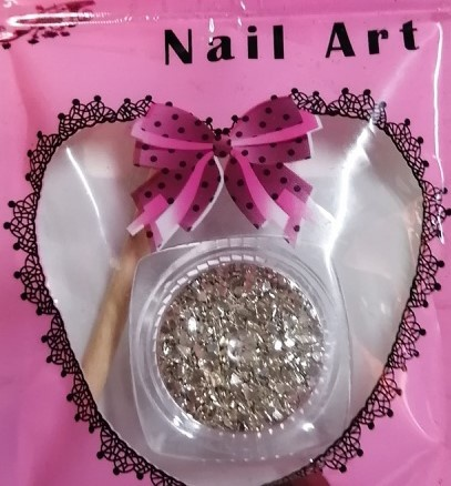 Nail art glass chips picture