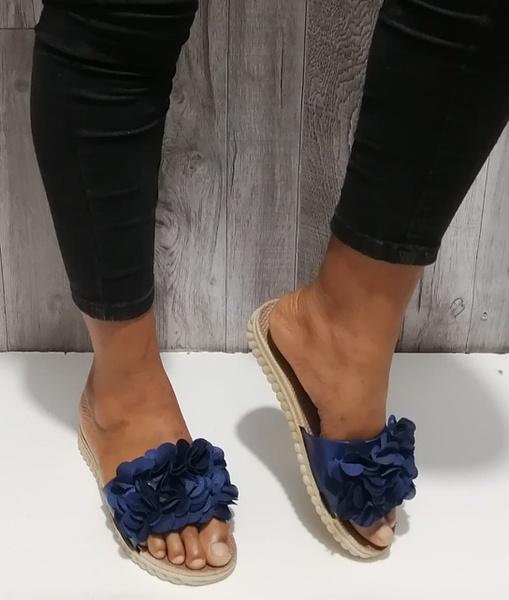 Blue sandals picture