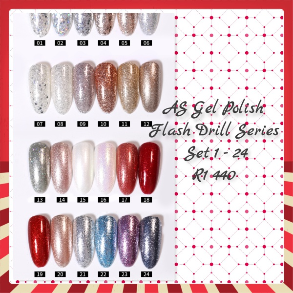 As gel polish flash drill series 1 to 24 picture
