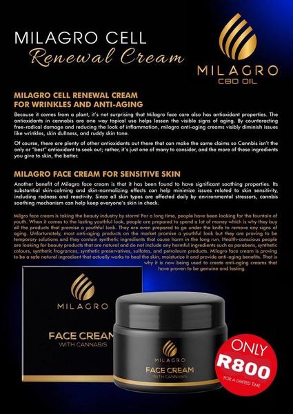 Milagro face cream picture