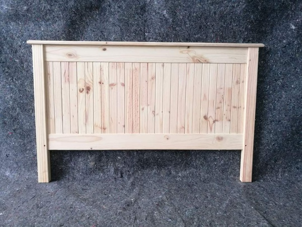 Beach cottage(tongue and groove) pine headboards picture