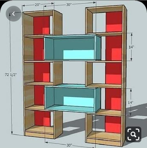 Bookshelves picture
