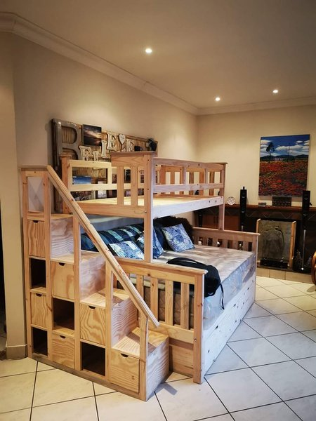 Christine tri bunk with shelf/storage staircase picture