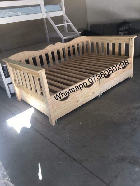 Pine daybeds with space savers(drawers on wheels) picture