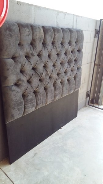 Upholstered (deep button) headboards,kists,ottomans and bedside pedestals picture