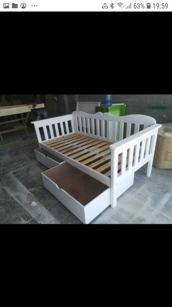 Pine daybeds with space savers picture