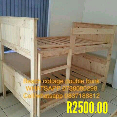 Beach cottage(tongue and groove)double bunk beds picture