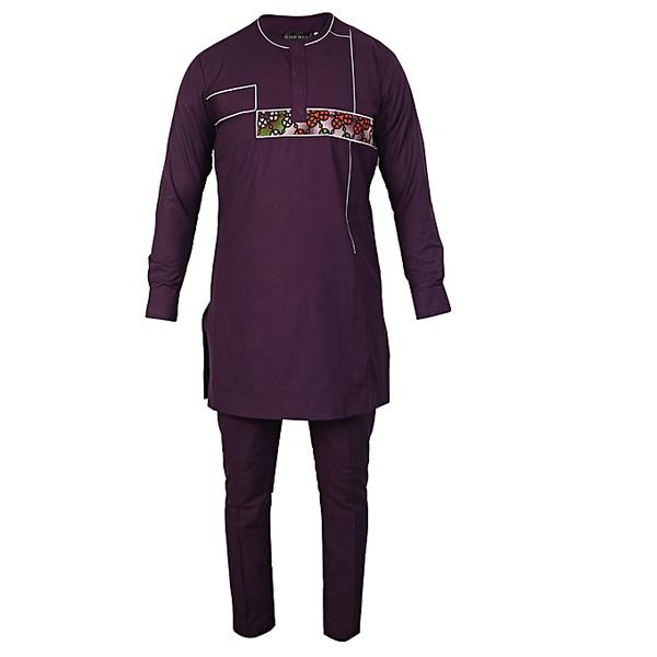 White label native senator shirt & trouser set - purple, mish mega picture