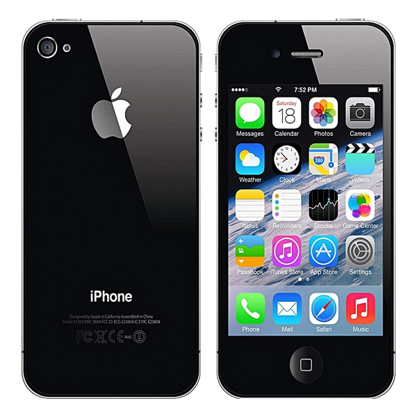 Apple iphone 4s - black - 32gb - 512mb ram - 3.5 inch picture
