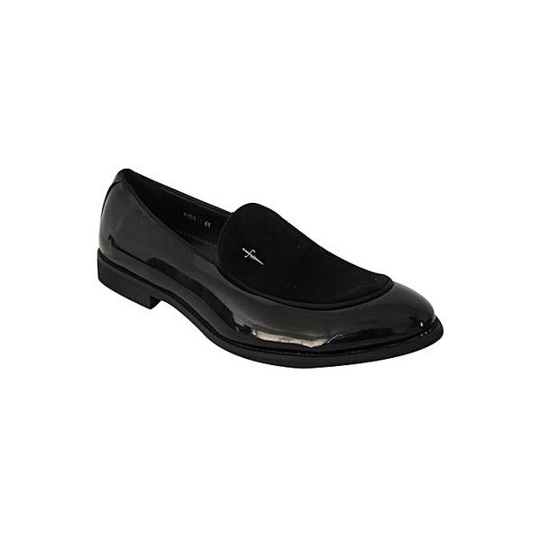 White label patent shoes - black picture