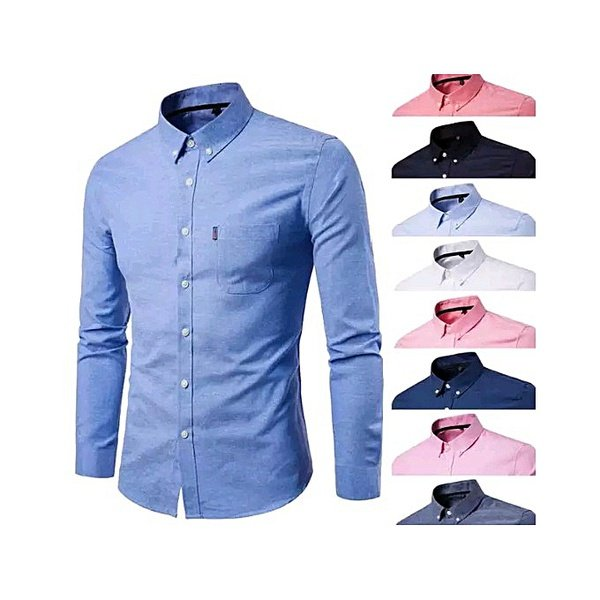 White label long sleeve shirts - 9 pack - multicolour picture