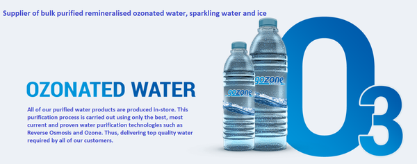 Supplier of bulk purified remineralised ozonated water, sparkling water and ice picture