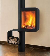Metal fireplace picture