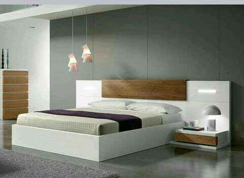 Modern stylish built-in bedroom picture