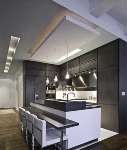 Modern kitchen ceiling & lighting picture