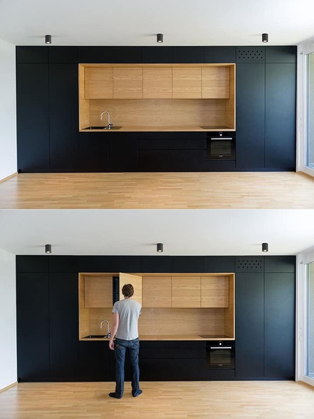Built-in kitchenette picture