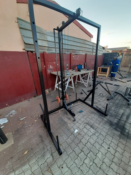 Half rack with high snd low pulleys picture