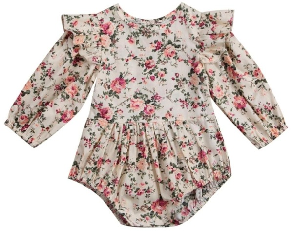 Floral balloon romper picture