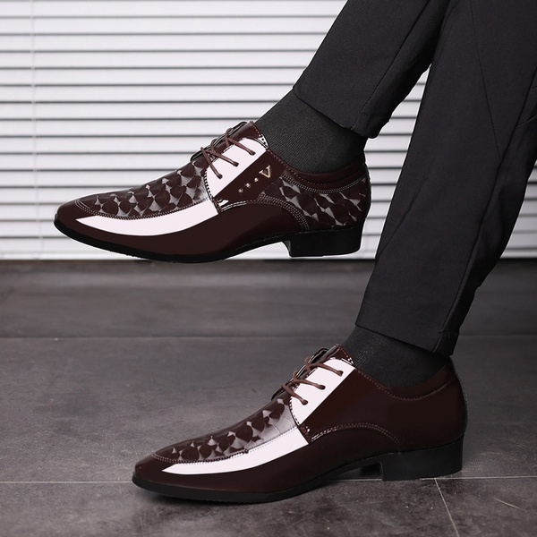 Merkmak oxfords leather shoes picture