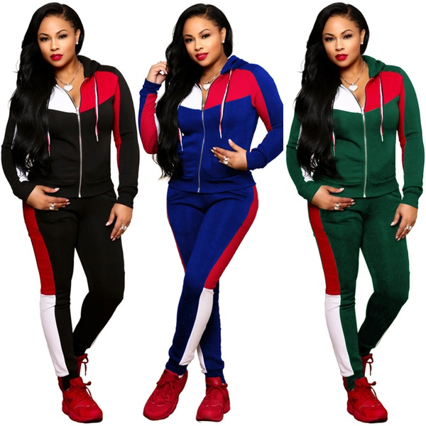 Woman's hooded sports suits picture