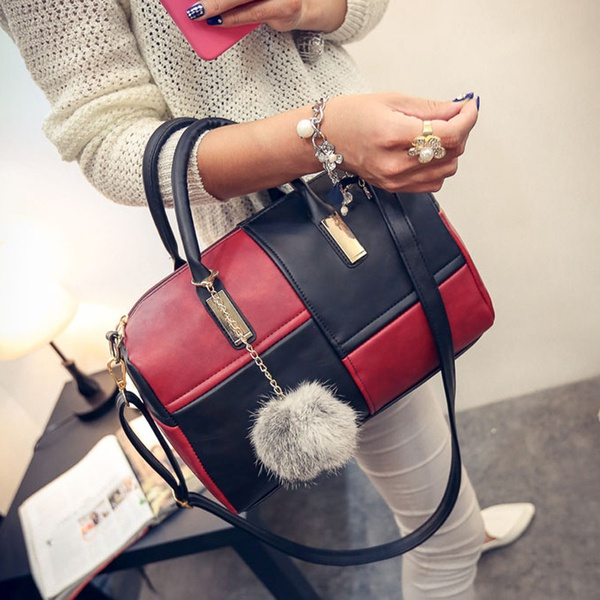 Splicing woman's bag picture