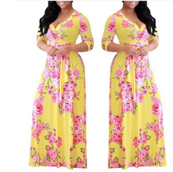 Digital women's big skirt dress picture