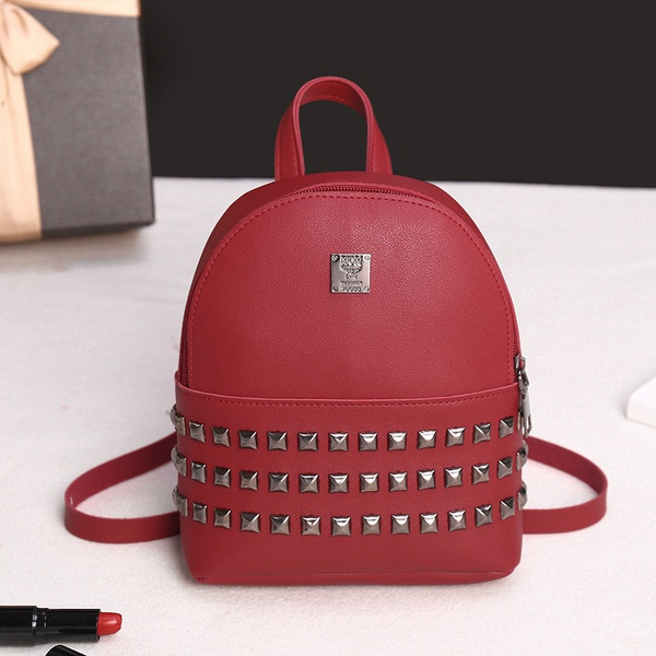 Rivet backpack leather bags picture